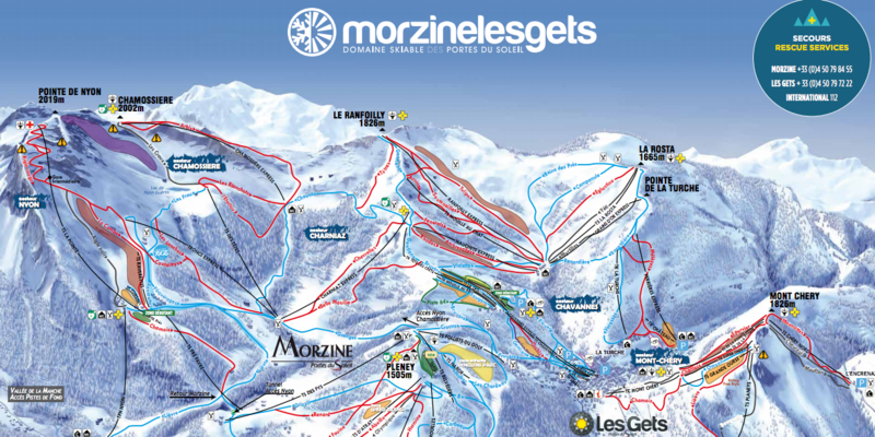 Piste map esf morzine for Piste de ski interieur